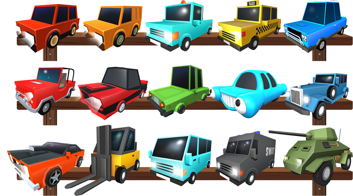 Poly Drive Different Cars