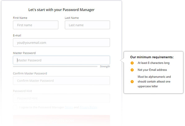 Make a strong master password