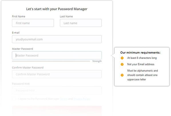 Make a strong master password