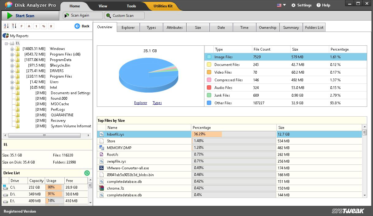 Manage hard disk space