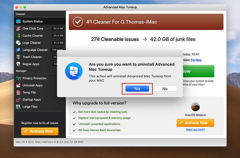 Uninstall Instructions – Advanced Mac Tuneup